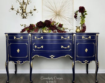 SOLD French Inspired Buffet, Refinished Buffet, Vintage Buffet