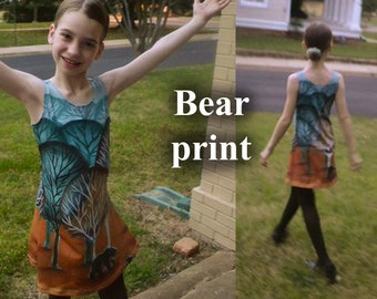 All-Over Print of an Original Oil Painting on a Child's Sleeveless Dress