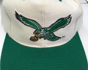 Deadstock Vintage Philadelphia Eagles NFL Football 100% Wool Starter Snapback Hat