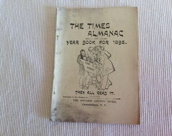 Vintage The Times Almanac Year 1895