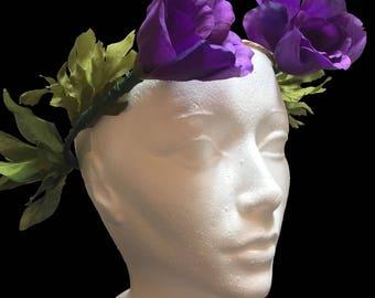 Semi Simple Flower Crown Purple