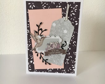 Card mother's day-shabby chic