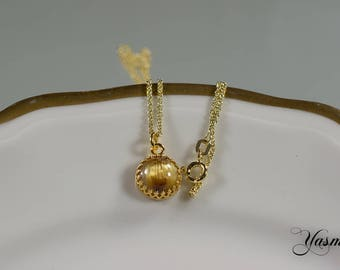 Noble rutilated quartz in Sterling gold plated