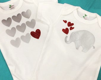 Baby Elephant Onesie Set - You Pick The Size