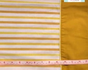 Vintage Pillowcase with Yellow Stripes