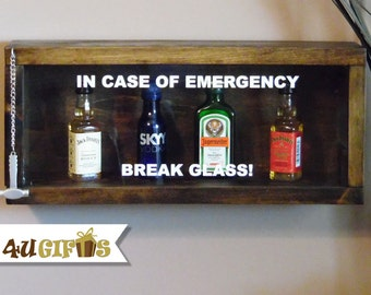 Man Cave Gag Gifts : In case of emergency break glass energy drink size gag gift