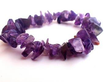 Amethyst bracelet, Healing bracelet , Beaded bracelet , Amethyst woman , Gift womans , Gift for girlfriend , Gift for her
