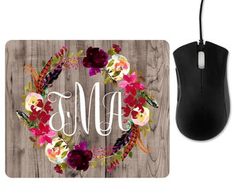 Personalized mouse pad, personalized mousepad, monogrammed mouse pad, monogrammed mousepad, monogram mousepad, name mouse pad, name mousepad