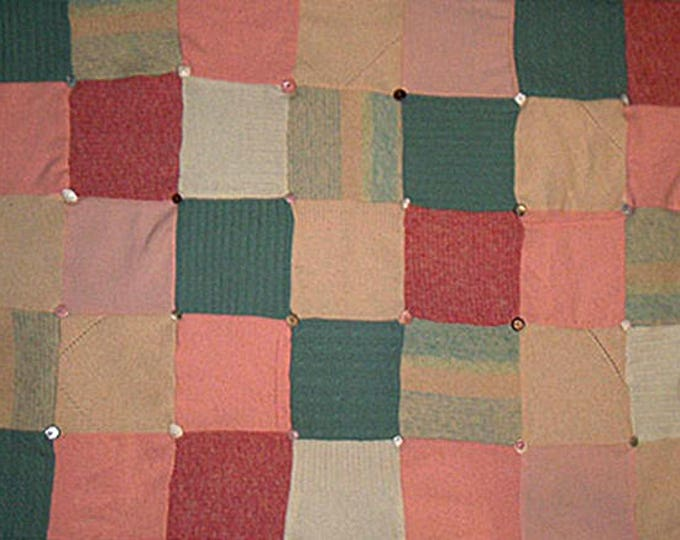 "My ""Three Melons"" Wool Sweater Quilt — I can make one similar for you!"