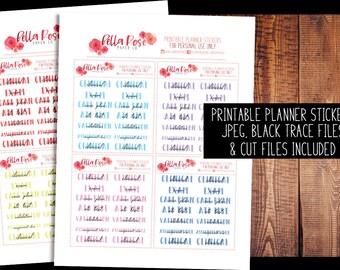PRINTABLE Planner Stickers | Nursing Student Planner Stickers, Digital, for use in Erin Condren Planners, Happy Planner Stickers, TN Sticker