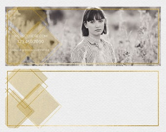 Geometric Gold Facebook Timeline Banner, DIY, Template, Photography, Photographer, Marketing, Gold, Modern, Simple