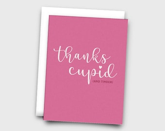 Thanks Cupid (And Tinder) Funny Valentine Card