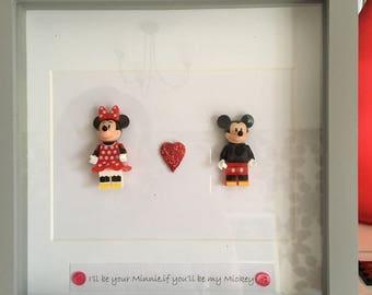 Arte de marco de Minnie y mickey