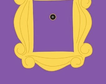 Handmade Yellow Peephole Frame As Seen On Monicas Door On