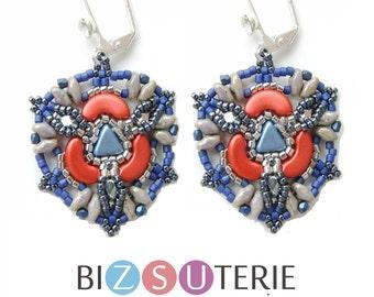 Bead Hazard earrings - instant download beading pattern
