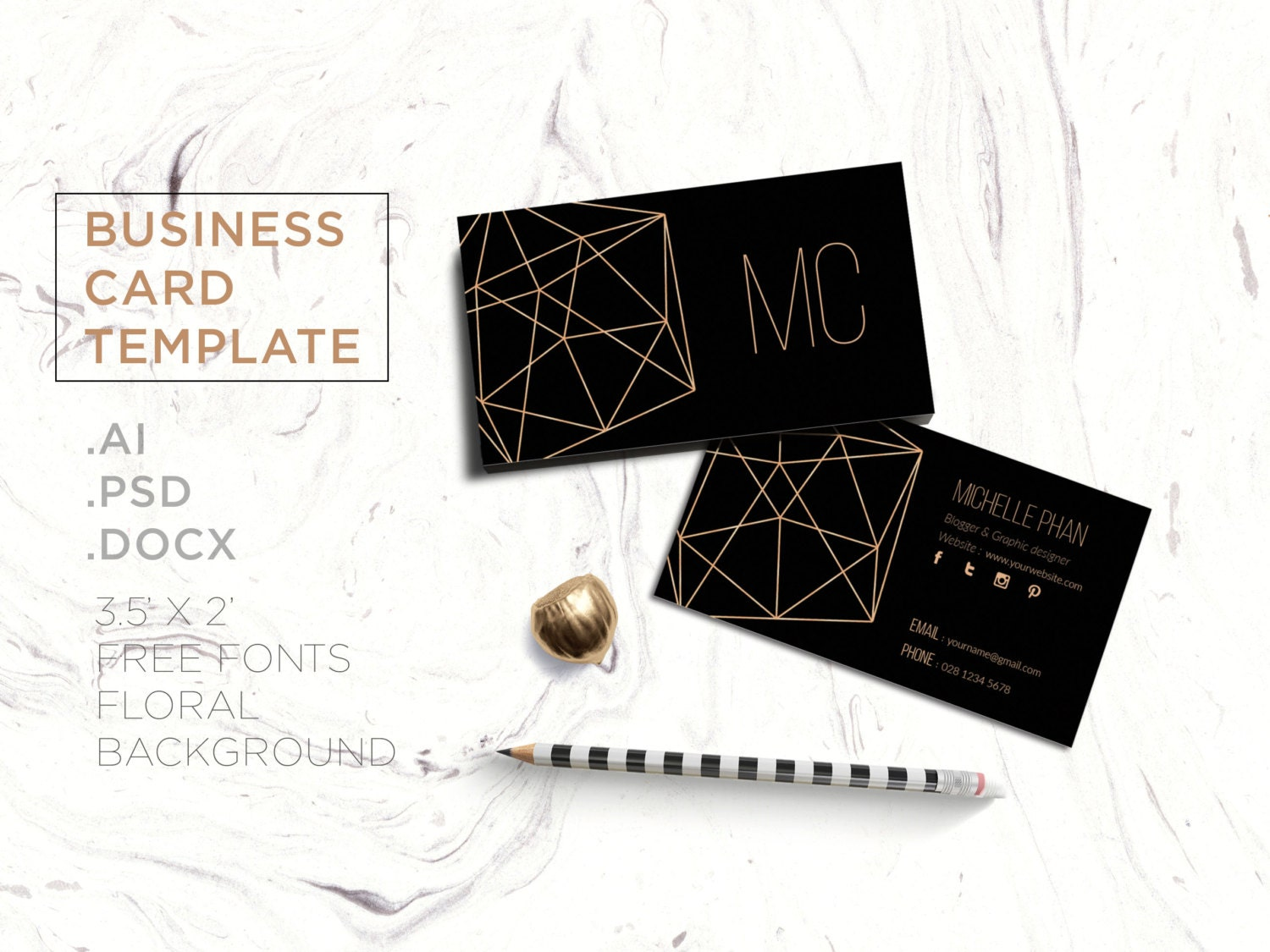 Creative business card templatebusiness cardcustom business zoom fbccfo Image collections