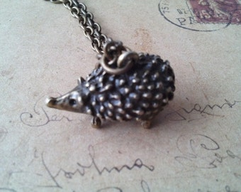 Hedgehog necklace ~ bronze ~.