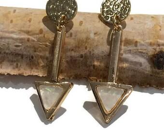 Hammered Earrings | Gold earrings | Boho Earrings | arrow Earrings |