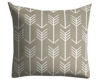 grey outdoor pillows, outdoor patio pillow, arrow pillows, grey white arrow pillow, pillow covers, grey pillow covers, 12 in pillow, 12x12