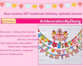 Happy Birthday Banner HAPPY BIRTHDAY, Birthday Decoration, Happy Birthday Sign,  Birthday, Classic Birthday Decor Mini Burlap Banner