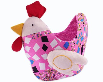 Chicken Organizer Pouch Bag Easy Sewing Kit Patchwork Quilt Kit For Beginner