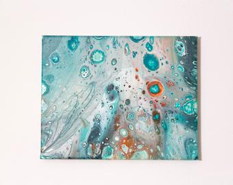 """Acid Rain - Fluid Acrylic Painting 8""""x10"""""""