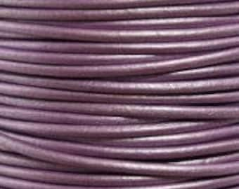 2mm Leather Cord, Chandi Leather, Cord,  Rope, Leather Supplies, Wrap Bracelet Leather, Purple Leather, Jewelry Leather, By The Yard