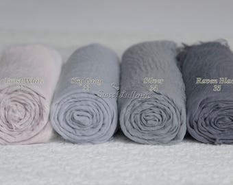 Newborn Wrap Baby Gray Silver Cheesecloth Photography Prop Newborn wrap baby wrap newborn wrap newborn photo prop Baby Muslin Swaddle RTS