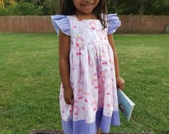 Little Girls Pink and Purple Princess Dress Size 2T RTS
