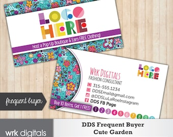 Dot Dot SmileFrequent Buyer Business Card, Cute Garden Design, Customized Business Card, Direct Sales, Fashion Consultant