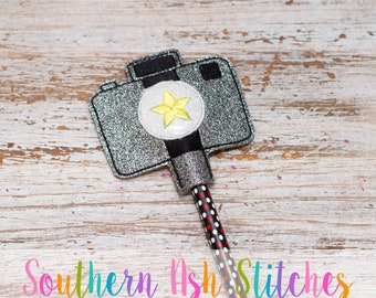 Camera Pencil Topper Embroidery Digital Download