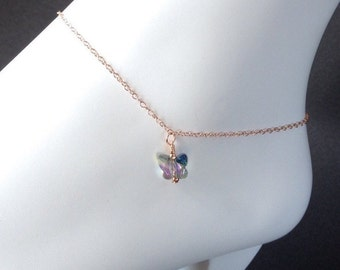 Anklet - Ankle Bracelet - Rose Gold Jewelry - Gift for Her - Bridesmaid Gift - Gift for Mom - Gift for Women - Girlfriend Gift
