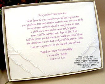 Wedding Hankie Packaging   add this to your order