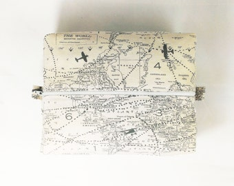 Airplane Toiletry Bag World Map Woman Gift Makeup Case Bathroom Bag Cosmetic Case Travel Gift Pilot stocking stuffer