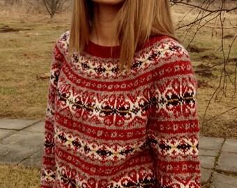 Fair isle pullover norweger pulli pullover gr nen pullover - Fair isle pullover damen ...
