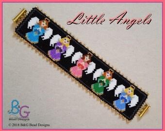 LITTLE ANGELS Peyote Bracelet Cuff Pattern