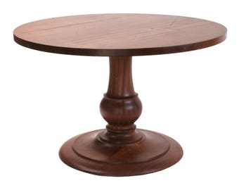 505 Round Table, Pedestal Table, Solid Wood Table, Round Dining Table,  Custom