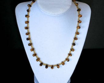 Handcrafted Tiger's eye necklace