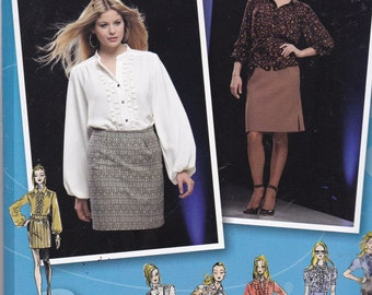 Simplicity 2807 Vintage Pattern Womens Top and Skirt in  Variations Size 14,16,18,20,22 UNCUT