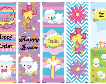 Easter Lambs & Crosses Book Marks