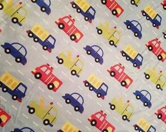 Trucks and Cars Baby Blanket