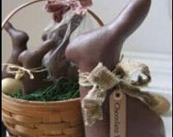 "Primitive cloth doll Bunny PATTERN "" Chocolate Bunnies"" cloth doll pattern"