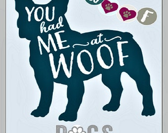You Had Me at Woof glossy photo print funny quote 8x10 picture