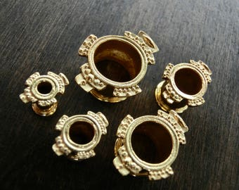 Tribal Brass Plugs 4 - 12 mm
