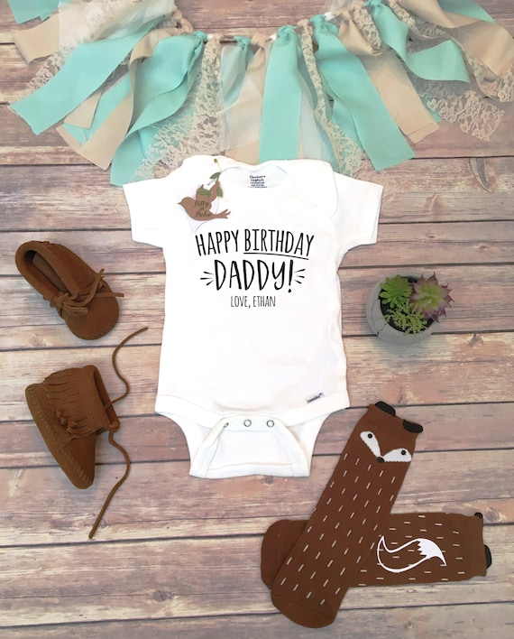 Happy Birthday Daddy Onesie Daddy Onesie Birthday Gift for
