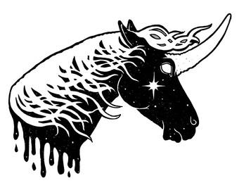 Planet Mars Unicorn - Unicorn Art - Print - Free shipping