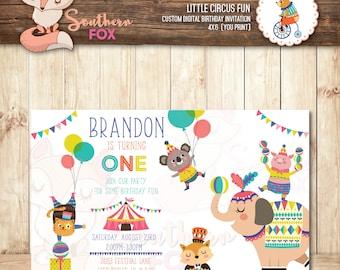 Circus Invitation-Digital Invitation-Circus Invitation,Circus Birthday,Little Circus,Carnival Invitation, Little Circus Birthday, Circus