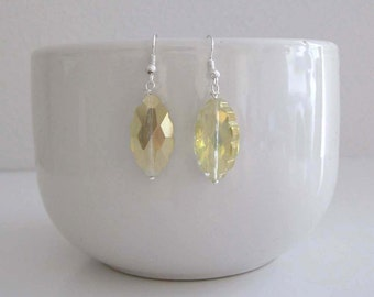 Faceted yellow crystal earrings