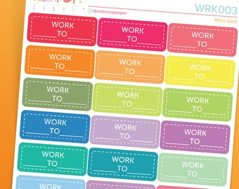 Work Stickers, Shift Work Stickers, Work Planner Stickers - WRK003