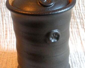 Paw stamp Pet Urn in Espresso glaze